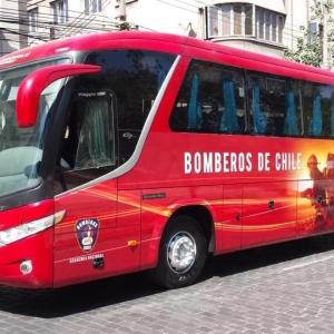 Nuevo bus Institucional de Bomberos de Chile