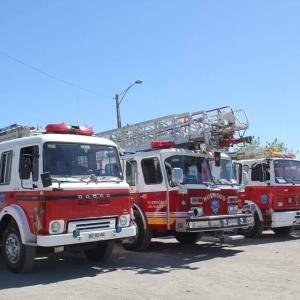Camiones  de la >Segunda Compañía de Bomberos Hualpen