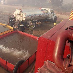 Abastecimiento incendio forestal Ruta 66 enlace ruta 68